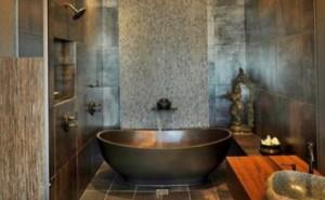 Comfortable Bathroom as Spa Room