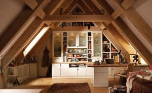 Simple attic house for adding the room