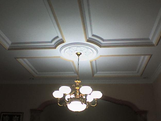 Interior design cost down by using gypsum