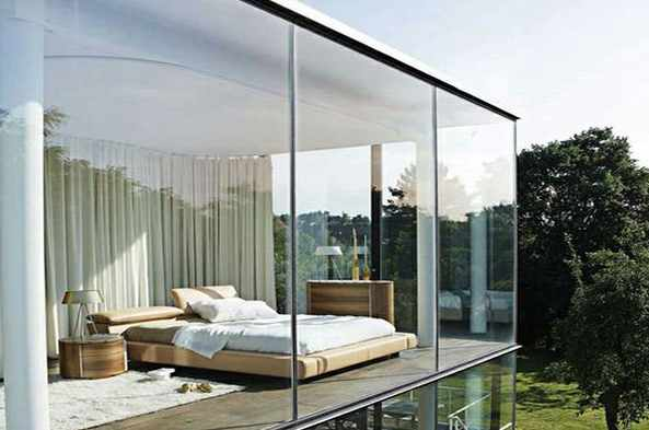 glass wall house