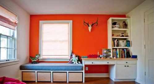 Warm Color for Kids Bedroom