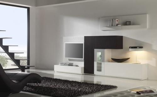 Modern Living Room In Minimalist Concept